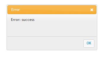error - success